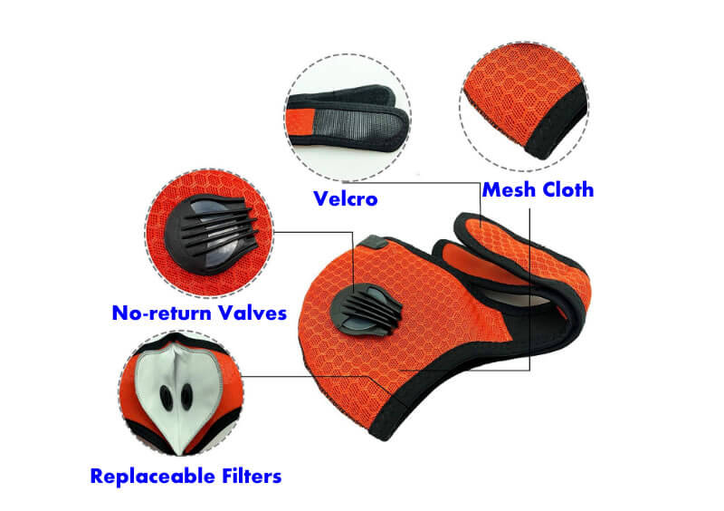 cycling masks for covid protection