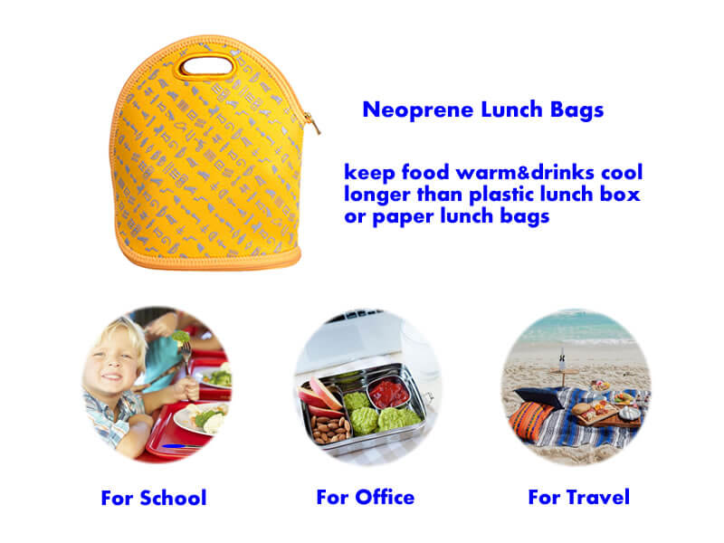 neoprene lunch bag multi function