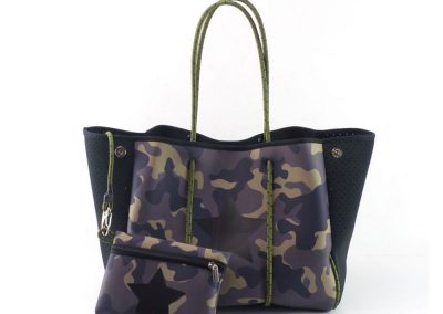 camouflage neopprene tote bag