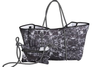 neoprene beach bag with insert bag