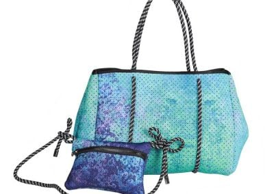 neoprene beach bag tote