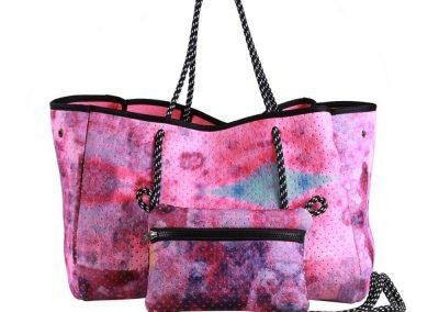 neoprene bag with purse