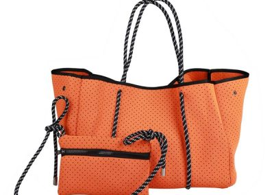 neoprene tote bag orange