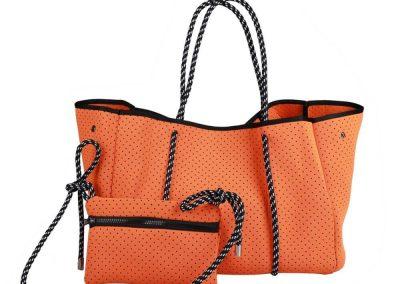 neoprene tote bag orange